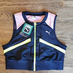 NWT Puma Women's Chase Full Zip Crop Drycell M